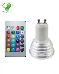 China RGB led remote controlling led spotlight bulbs GU10 4W on sale