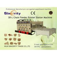 Flexo Printing Slotting Machine , Automatic Corrugated Box Making Plant