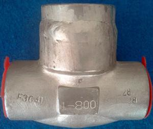 China China Welded Bonnet Piston Check Valve manufacturer, Stv provides Piston Check Valve, body ASTM F304L, 304 TRIM, 800 LB on sale