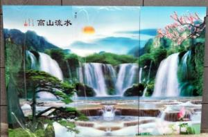 China OK3D injekt large3d lenticular pictures motion 3d wallpaper,large format 3d decor painting flip 3d lenticular prints on sale
