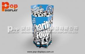 China Football / Soccer Floor Dump Bin Display Recycled , CMYK Offset Printing on sale