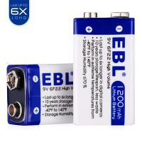 Lithium Ion 9v Dry Rechargeable Cell Batteries 1200mah Long Life High Performance