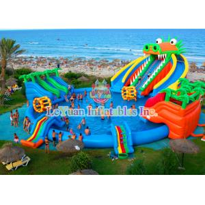 Dinosaur Inflatable Water Slides Double Stitching Quadrupl Stithing  Reinforcement