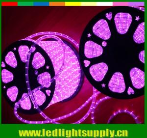 China 2 wire led pink color transparent neon flex wire rope lights on sale