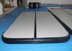 China Custom Inflatable Air Track Double Wall Fabric Material Black Sides on sale