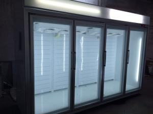 China Open Multideck Display Fridge With Glasss Door Remoted Cooling System on sale