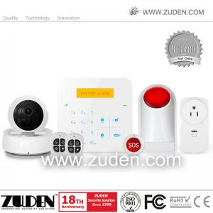 China WiFi & GSM Alarm System with  iOS & Android APP Control /large LCD for home security on sale