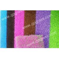 China Red / Blue Monofilament Diy Artificial Turf For Home Decoration 20mm Dtex7500 on sale
