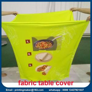 China Custom Stretch Fabric Table Cover with Printing on sale