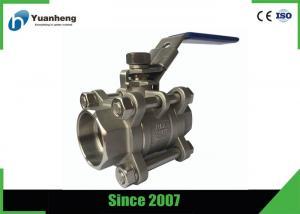 China Stainless steel full bore ball valves , 3PC Socket Welded ball valve on sale