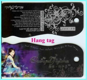 China Paper Wash Hang Tag on sale
