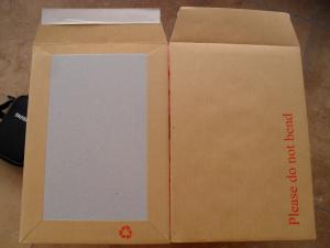 China Rigid Photo mailers,board backed envelope for Uk on sale