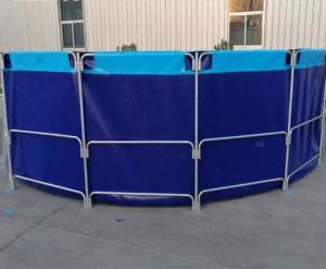 China Waterproof And Fireproof PVC Fish Pond With Laminated PVC Pool Liner on sale