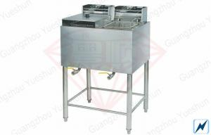 China Double Tank Deep Fryer With Stainless Steel Body For Restaurant on sale