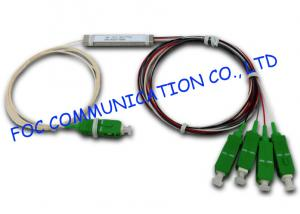 China FTTX Fiber Planar Lightwave Circuit Splitter Mini Tube Type Low PDL 1 × 4 on sale