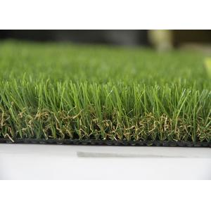 China Landscape Artificial Grass , Landscaping Fake Grass V Shape Yarn 20mm - 60mm on sale