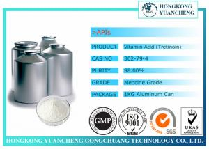 China White Pharmaceutical Raw Materials 99% Vitamin A Acid Retinoic Acid Tretinoin CAS 302-79-4 on sale
