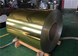 China Gold Mirror Aluminum Composite Material , Aluminium Composite Panel Sheet Pe Coating on sale