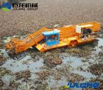 Water Weed Harvesting Vessel with Conveyor Belt and Storage Cabin
