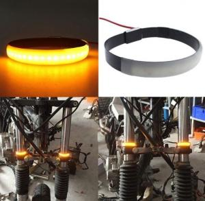 China Pair SMD LED Strip Bike Motorcycle Car Fork Turn Signal Indicator Lights Blinker Lamp on sale
