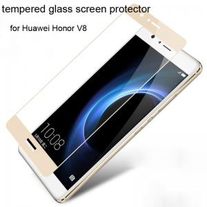 China Best Colorful tempered glass screen protector Huawei Honor V8 Honor V8 full screen Gold on sale