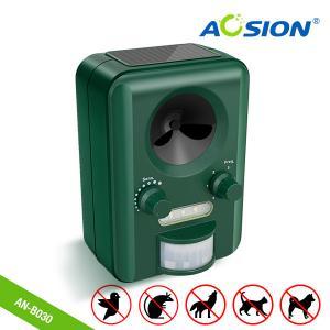 China Aosion Factoty Garden Using With Flashing Solar Ultrasonic Animal Cat Dog Bird Deer Fox Repellent  Repeller on sale
