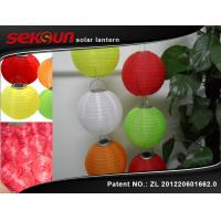 China Garden / Patio Automatic Hanging Solar Garden Lanterns With 3 LED lights on sale