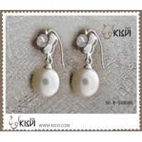 Fashion Jewelry 925 Sterling Silver Gemstone Earrings with Imitated Pearl W-AS000B