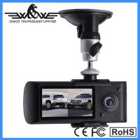 "x3000 car dvr,car black box 2.7"" Dual camera Car DVR with GPS module can record driving track"