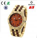 日付、よくなって 木腕時計が付いている贅沢な日本の動きの木の腕時計