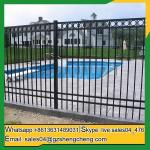 Esperance steel grills fence design galvanized steel tubular fence