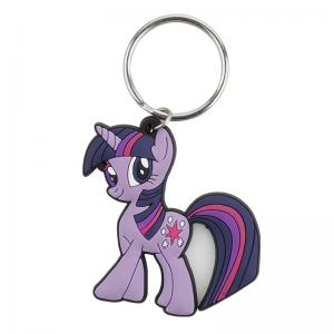 China Custom My Little Pony Cartoon Design Key Ring, 3D soft Touch Flexible PVC Key Chains on sale