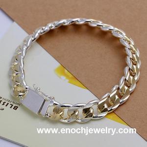 China 20CM*1.0CM gold tone italian mens bracelet on sale