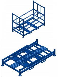 China Storage Racking Metal Shelving Warehouse Foldable Stacking Rack on sale