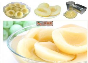China Nutritious Organic Canned Fruit / Canning Preserving Peaches In Jars Low Sugar on sale