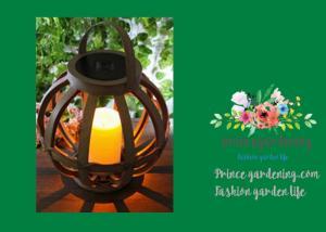 China Cross Weaving Rattan Basket Solar Garden Lights With AA 1.2V / 600MAH Battery supplier