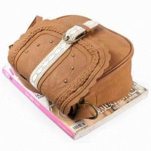 China Fashion Trendy Handmade Leather Sling Bag With T/C Lining Lady Bags on sale