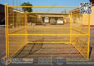 China 8ftX10ft 1 square pipe Temporary construction Fencing panels with highly visible Yellow Color  powder coat on sale