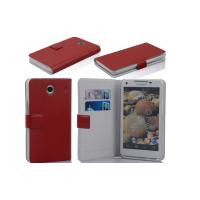 Waterproof Red Protective PU Leather Case Wallet , Otterbox Cell Phone Case