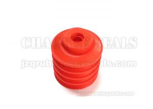 China Food Grade Red Industrial Rubber Suction Cups With Germany LFGB Approved on sale