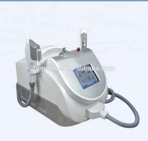 China Beauty salon and spa use shr laser two handles ipl shr opt portable hair removal machine on sale