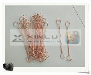 China Copper Coated Double wire ties / Copper Double wire Bar tie wires on sale