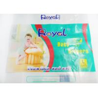 China PE Flexible Plastic Packaging Bags For Baby Diaper , Custom Printed Plastic Bags  on sale