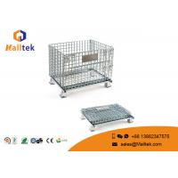 Foldable Wire Mesh Storage Bins Durable Industrial Galvanized Steel Cage