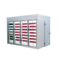 Glass Door Multideck Display Fridge Customized Dimensions 220v/380v Voltage