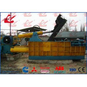 China Manually Operated Hydraulic Metal Scrap Baling Machine 200 Ton Three Ram Baler on sale