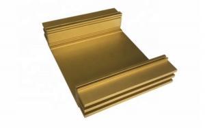 China Yellow Anodized Aluminum Profiles Extruding Work , Custom Extruded Aluminum Profile on sale