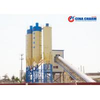 China SC100 * 350 Stationary Concrete Batching Plant 101560mm * 1000mm Flat Belt on sale