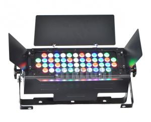 China 48x3W RGBW led stage wash light with barndoor for theatre, events, productions, installation on sale