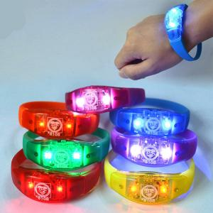 China Environmental concert light bracelet 21*2cm silicone + ABS logo customized on sale